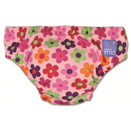 Bambino Mio Swim Nappy Diaper, Pink Daisy, Medium back-412211