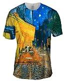 "Vincent van Gogh - ""The Terrace Café On The...-Tagless- Mens Shirt 1517-X-Large"