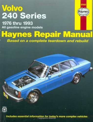 Volvo 240 Series: 1976 Thru 1993 All Gasoline Engine Models (Haynes Repair Manual) (Haynes Manuals) front-406230