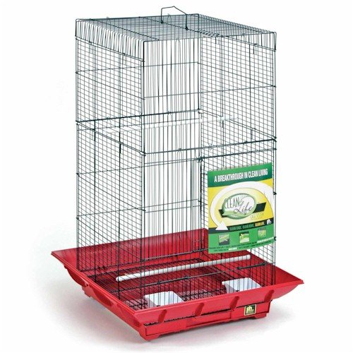 Image of Clean Life Tall Bird Cage Color: Black (SP852B/B)