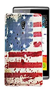 ECellStreet Exclusive Printed Soft Back Case Cover Back Cover For Micromax Canvas Fire 4G Q411 - Flag Design