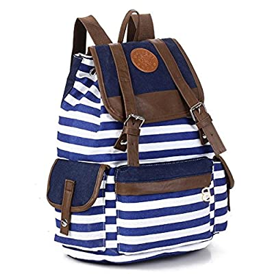Kisstyle Unisex Backpack/School College Satchel Rucksack Backpack Campus Bag Blue