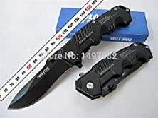 buy New Listing Black Cold Steel Folding Knife With Retail Paper Box Hunting Knives Retail Wholesale 1Pcs Freeshipping