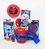 Spiderman Candy and Toy Easter Basket with Large Chocolate Egg and Spider Wars Robot