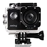 4K WIFI Sports Action Camera 16MP Full HD 1080P 2 Inch LCD Screen 170° Wide Angle Lens Waterproof (memory card not Included)-JUNING