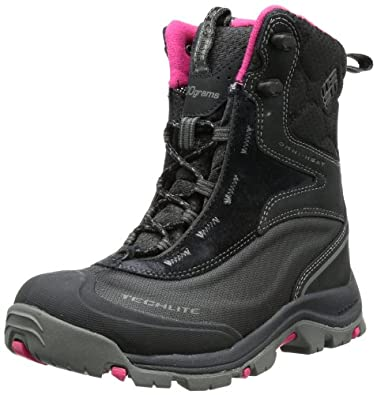 Columbia Sportswear Women's Bugaboot Plus Cold Weather Boot,Black/ Bright Rose,6 M US