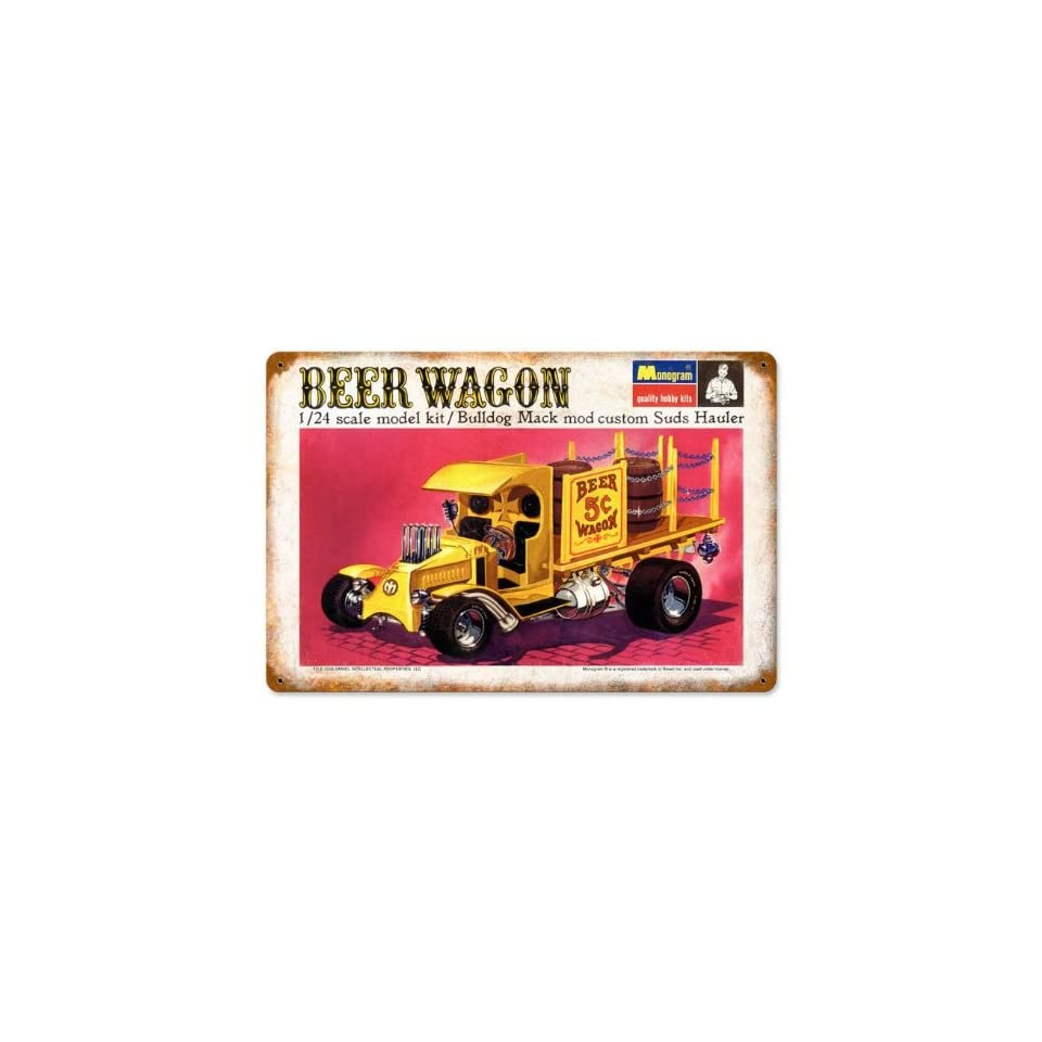 Beer Wagon Automotive Vintage Metal Sign Victory Vintage Signs