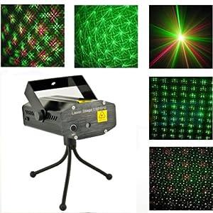 Nouveau Etoiles étape Projecteur de Lumière Laser Vert Rouge Star Noir Apparence pour soirée de folie