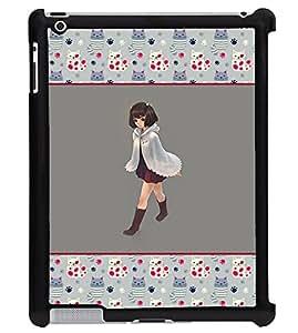Printvisa 2D Printed Girly Designer back case cover for Apple ipad 2 - D4267
