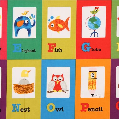 Schule Patchwork Alphabet ABC