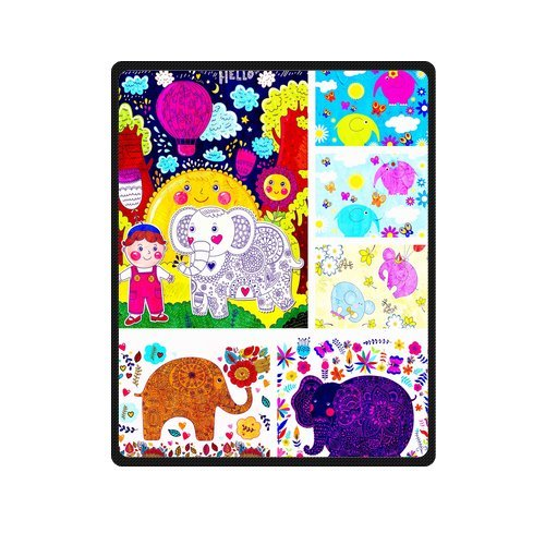 "Seamless Pattern Of Baby Elephants Custom Blanket 40""X 50""(Small) front-781374"