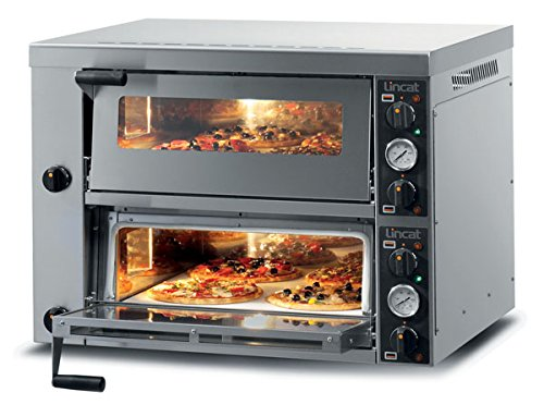 Lincat Pizza Oven Twin deck Pizza Equipment Single and twin deck pizza ovens - ideal for restaurants, pizzerias, takeaways, cafés and fast food outlets Size (HxWxD) 675 x 886 x 902 (mm) POWER 6KW , Weight 116