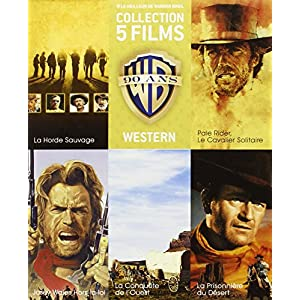 90 ans Warner - Coffret 5 films - Western + 1 magnet collector « La Conqu