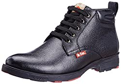 Lee Cooper Mens Black Leather Boots - 6 UK