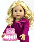 Tiered Doll Cake Perfect for 18 Inch American Girl Doll Food, Doll Furniture & More! Doll Birthday Cake or Special Celebration Doll Food Cake