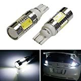 iJDMTOY® Extremely Bright 7.5W High Power 912 921 906 Projector LED Reverse Light Bulbs, Xenon White