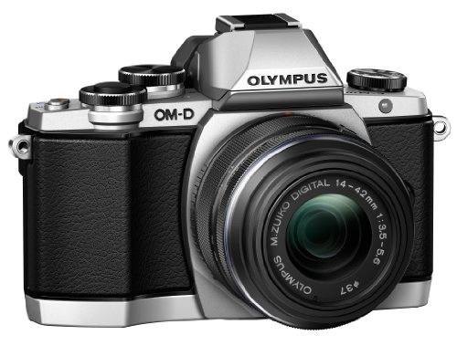 Olympus OM-D E-M10 Mirrorless Camera Kit with 14-42mm F3.5-5.6 II R Lens (Silver)