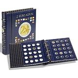 Leuchtturm (341017) Münzalbum VISTA, für 2-Euro-Münzen, inkl. 4 VISTA, Münzblättern, inkl. Schutzkassette,blau