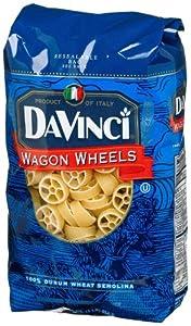 DaVinci Pasta Short Cuts, Wagon Wheels, 16 Ounce Bags (Pack of 12)