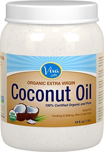 Viva Labs Organic Extra Virgin Coconut Oil, 54 Ounce (Baking Soda No Salt compare prices)