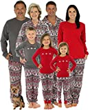 SleepytimePjs Family Matching Kids Pajama Nordic RED Top/Printed Pant 8