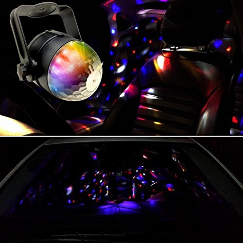 Car DJ Light Crystal Magic Ball Light Disco DJ Stage