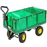 TecTake Carro de transporte carretilla de mano de jardin construccion bandeja extra�ble max. carga 550 kg