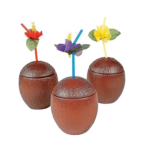 Cheap COCONUT CUPS PLASTIC (1 DOZEN) - BULK