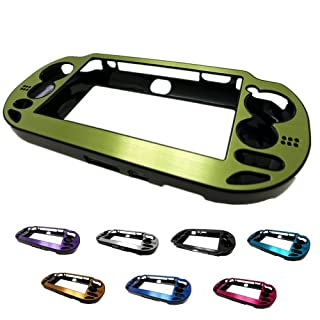 GREEN PlayStation PS VITA Aluminum Brushed Metal Plated Plastic Crystal Case Skin Protector Cover + Free Screen Protector (Many Colors Available) (GREEN)