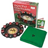 Casino Shot Glass Roulette Drinking Game - The Party Set = 1 Wheel, 16 Shot Glasses, 1 Green Poker Felt Mat & 20 Vegas Shot Recipes By Get the Games Out™
