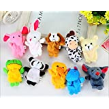 Cute Animals Figure Dolls Finger Puppets Plush Toys (10 PCS)