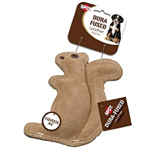 Ethical Pet Dura-Fused 8-Inch Leather Dog Toy, Small, Squirrel