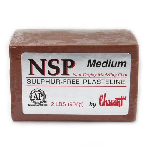 Chavant Clay - NSP Medium Brown - Sculpting and Modeling Clay (40lb Case) (Color: Brown)