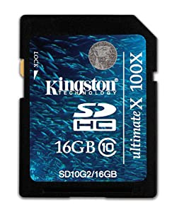 Kingston SD10G2 - Tarjeta de memoria SecureDigital de 16 GB (Class 10)