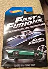 Hot wheels Fast & furious '72 ford gran trino sport green 5/8 official movie Rare item