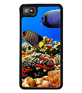 printtech Fish Coral Seawater Back Case Cover for BlackBerry Z10