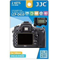 JJC LCP-D610 ultra hard polycarbonate LCD Film Screen Protector For Nikon D610 D600 2 Pack