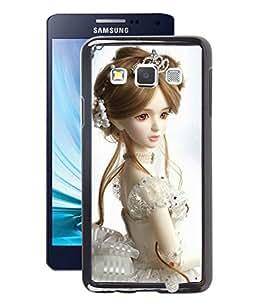 Fuson 2D Printed Cute Dolls Designer Back Case Cover for Samsung Galaxy A3 - D718