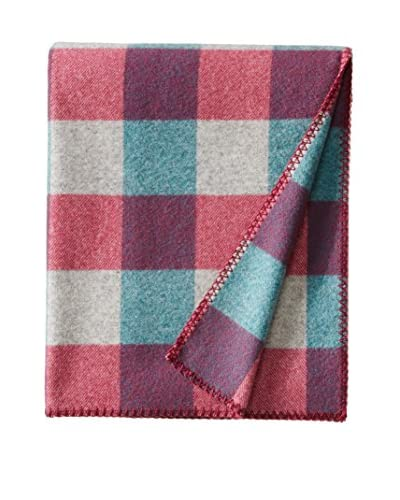 bambeco Classic Plaid Wool Throw, Lavender