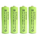 Pack of 4 BuyaBattery Branded AA Rech...