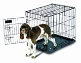 Petmate 21031 Pet Home Training Wire Kennel, Black, Medium