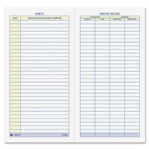 Adams Vehicle Mileage Journal, , 3.25 x 6.25 Inches, White (AFR10) (Gas Logs Outlet compare prices)