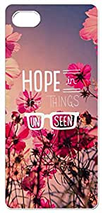 Hope in The Things Unseen Quotes with Red Flowers Background Design Soft TPU Phone Case for iphone 5/5s (2D, White)