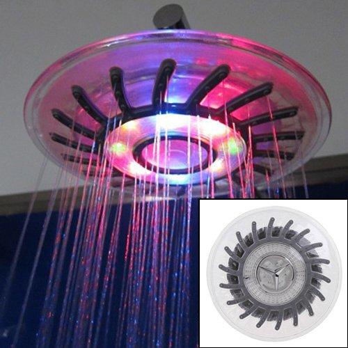 Toogoo(R) Romantic 4 Mixed-Color Led Shower Head Bathroom Sprinkler