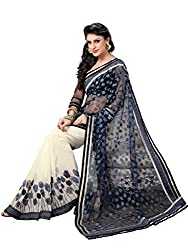 Texclusive Georgette Saree With Blouse Piece (Texch12 -Grey)