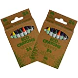 Natural Made of Plants & Beeswax Eco Crayons, Set of 24
