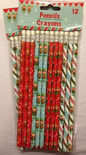 2 Dozen (24) Christmas Theme Pencil Assortment