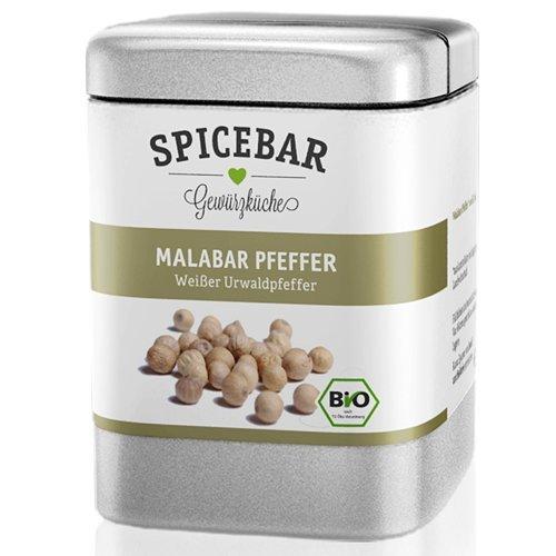 Suchen : Spicebar Weisser Malabarpfeffer ganz, 70g. BIO