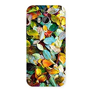 Stylish Colorfull Leafs Back Case Cover for HTC One M8