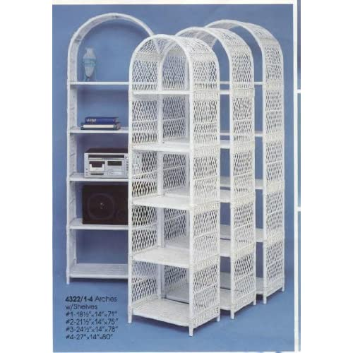 amazon     arched wicker etagere   home and garden products